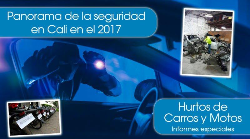 Panorama de la seguridad en el 2017 - Hurtos de vehículos
