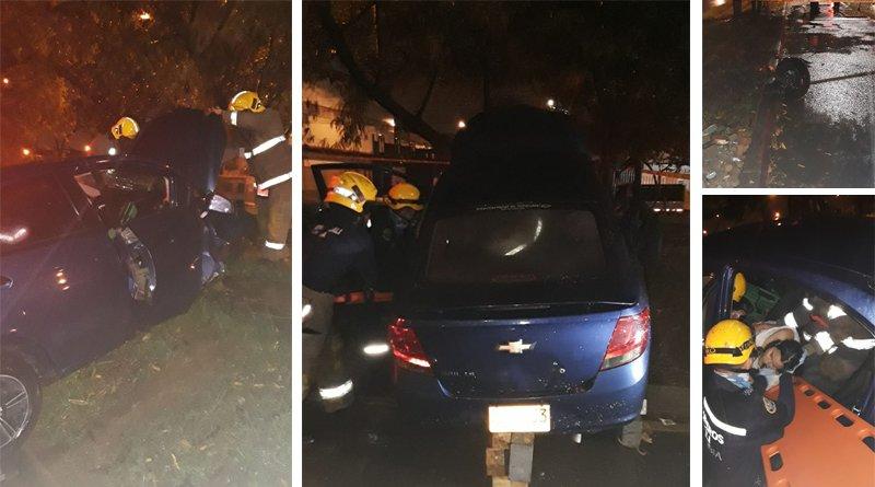 Aparatoso accidente esta madrugada por conductor borracho - Mujer quedó atrapada 🚙🚨🚧