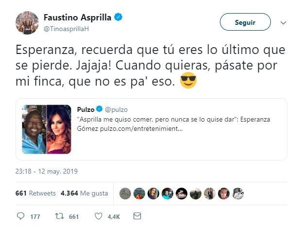 """Esperanza Gomez revelo que """"El """"Tino"""" se la quiere """"comer"""" en su finca."""