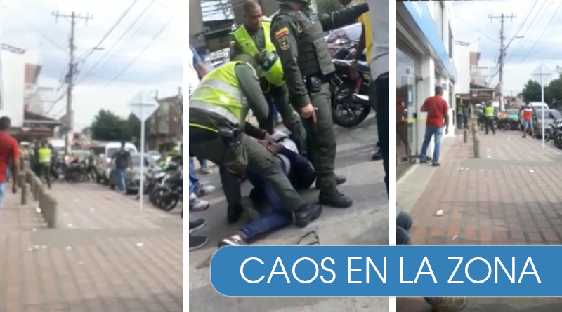 VIDEO - Intento de robo frustrado por la Policía Cali en medio de disparos