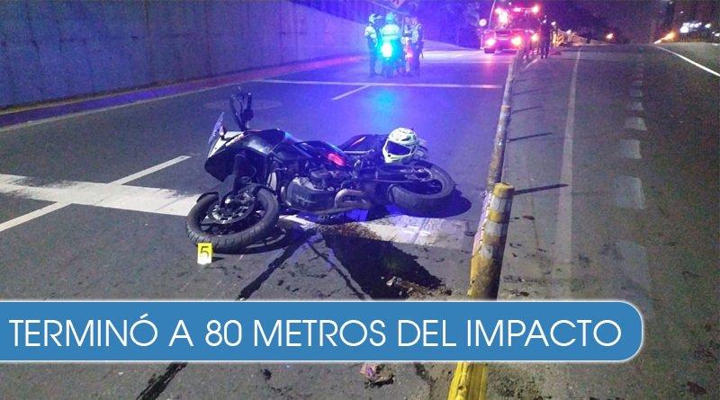 Aparatoso accidente de motocicleta en el túnel mundialista