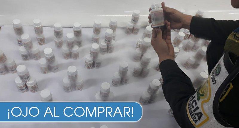 30.000 dosis de medicamentos incautados - Composición desconocida