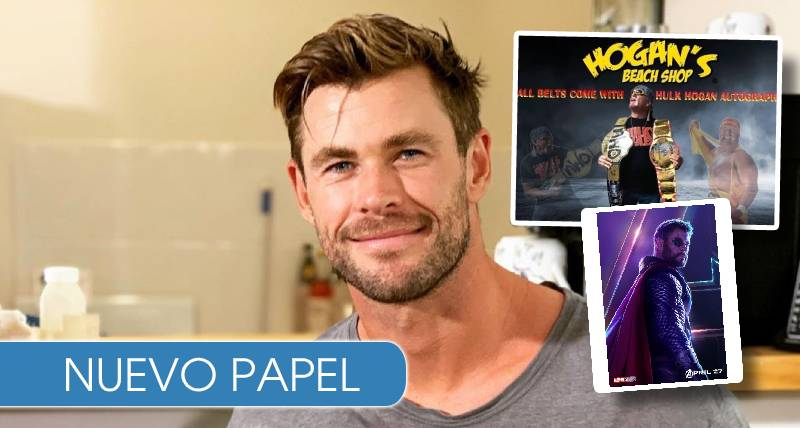 Chris Hemsworth entrenando para ser Hulk Hogan