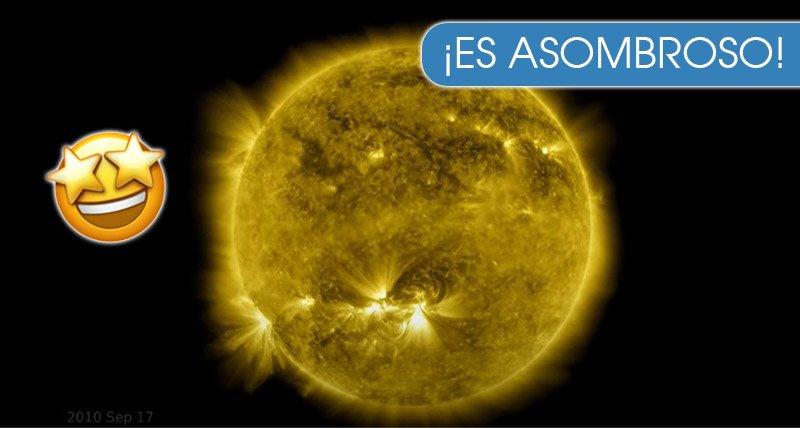 NASA realiza una película de los cambios del sol en una decada