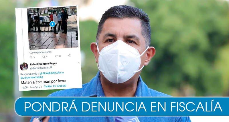 Alcalde de Cali denuncia que fue amenazado por medio de las redes sociales
